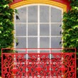 Colorful outdoor window - Stock Photo