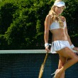 Sexy tennis girl — Stock Photo #11082553
