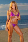 Beautiful beach bikini girl — Stock Photo
