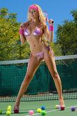セクシーなテニスの女の子 — ストック写真