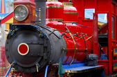 Colorful steam engine — Stock Photo