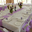 Stock Photo: Decorated Wedding table &chairs