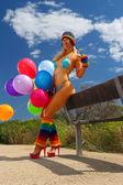 Sexy bikini girl — Stock Photo