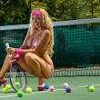 Sexy tennis girl — Stock Photo #11337135