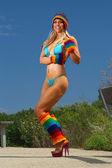 Ragazza sexy del bikini — Foto Stock