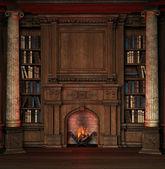 Alte bibliothek — Stockfoto