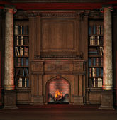 Vecchia biblioteca — Foto Stock