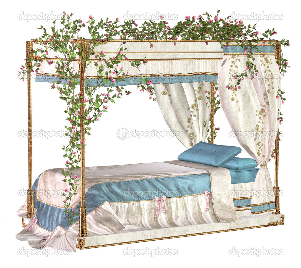 Fairy tale bed stock photo moreenb 10946468 for Fairytale beds