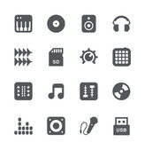 DJ equipment icon set — Stock Vector
