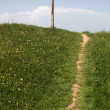 Stock Photo: Path leads to wooden cross