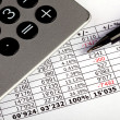 Stockfoto: Business spreadsheet