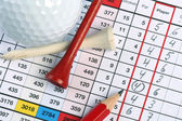 Scorecard with birdie — Stock Photo