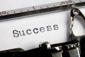 Success on old typewriter — Stock Photo