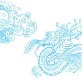 Doodle Blue — Stock Vector
