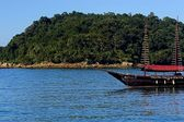 Paraty - Historical beach in BRAZIL — Stock Photo