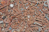 Rusty Steel Bolts, Washers and Nuts — Stock Photo