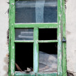 Old broken window — Stock Photo