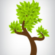 Tree with green leafage — Vector de stock #11592540