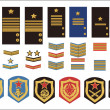 Stock Vector: Military ranks