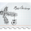 Royalty-Free Stock Vector Image: Merry Christmas Hand drawn