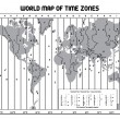 Timezone map — Stockvektor