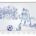 Hand drawn soccer — Stock Vector #11592837