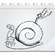 Hand drawn snail - Image vectorielle