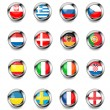Europan flag buttons — Stock Vector