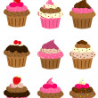 Royalty-Free Stock Vectorielle: Cup cake set