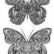 Stock Vector: Butterfly tattoo