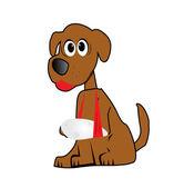 Dog Cartoon Illustration — Stock Vector