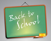 Blackboard. Back to school — Stock Vector
