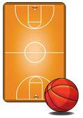 Basketball field — Stock Vector