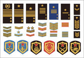 Military ranks — Stockvector