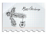 Merry Christmas Hand drawn — Vector de stock
