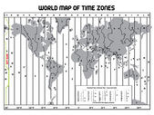 Timezone map — Stock Vector
