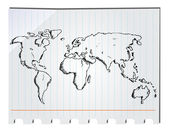 Hand drawn world map — Stock Vector