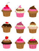 Cup cake set — Stock Vector