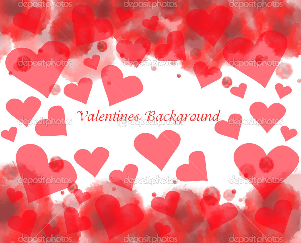 Valentine's day background with hearts  Stock Vector #11592816