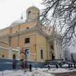 Alexander_s Church in Kiev in the winter - Stock Photo