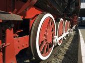 Ruedas de la locomotoras — Foto de Stock