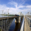 Bridges over the Dnieper River — Stock Photo
