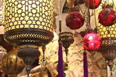 Turkish lamps in the Grand Bazaar, Istanbul, Turkey — 图库照片