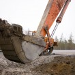 Stock Photo: Bucket excavator closeup