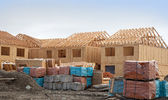 Construction of new homes — Stock Photo