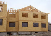 Construction of a new home — Stock Photo