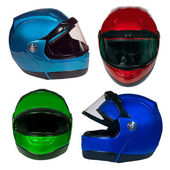 Motorcycle helmet on a white background — Stock Photo