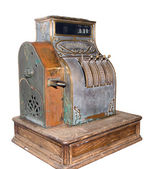 Museum a cash register on a white background — Stock Photo