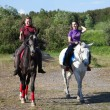 Two girls riding horses — Stock Photo #11264946