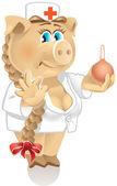 Doctor Pig — Stock Vector